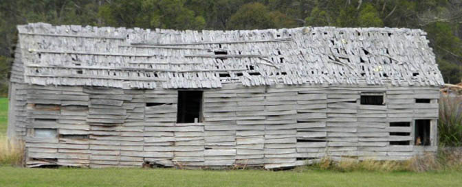 Photo: Arthur Orchard - Rustic shed near Nubeena Road turnoff.